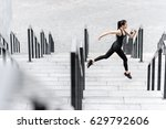 side view of athletic young... | Shutterstock . vector #629792606