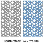 bubbles pattern in vector | Shutterstock .eps vector #629796488