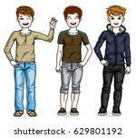 young teen boys cute children... | Shutterstock .eps vector #629801192