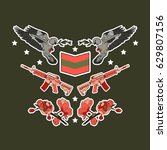 military patch badges with... | Shutterstock .eps vector #629807156