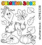 Coloring Book With Autumn Them...