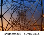 wire electrical energy at... | Shutterstock . vector #629813816