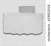 ripped of paper on a... | Shutterstock . vector #629822018