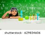 cute little indian asian... | Shutterstock . vector #629834606