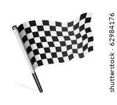 vector checkered flag | Shutterstock .eps vector #62984176
