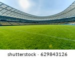 panoramic view of soccer field... | Shutterstock . vector #629843126
