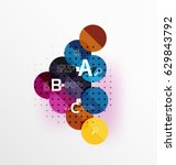 colorful glossy circle... | Shutterstock .eps vector #629843792