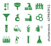 chemical icons set set of 16