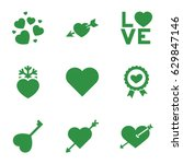passion icons set. set of 9... | Shutterstock .eps vector #629847146