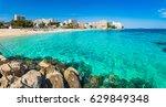 spain mediterranean sea ... | Shutterstock . vector #629849348