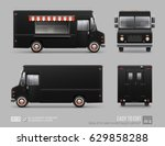 black food truck hi detailed... | Shutterstock .eps vector #629858288