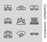 platform icons set. set of 9... | Shutterstock .eps vector #629860922