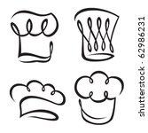 set of chef hats | Shutterstock .eps vector #62986231