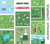 landscape constructor with... | Shutterstock .eps vector #629868926