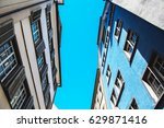 buildings rising into the sky.... | Shutterstock . vector #629871416