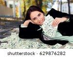 woman and money.   Shutterstock . vector #629876282