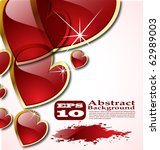the vector abstract hearts... | Shutterstock .eps vector #62989003