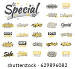 xxl collection of artistic sale ... | Shutterstock .eps vector #629896082