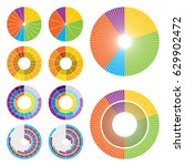 set of ten circle charts in... | Shutterstock .eps vector #629902472