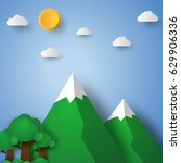 nature landscape with mountain... | Shutterstock .eps vector #629906336