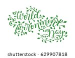 world environment day hand... | Shutterstock .eps vector #629907818