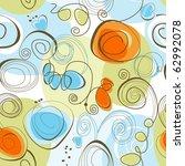 whimsical floral background ... | Shutterstock .eps vector #62992078
