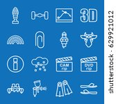 set of 16 color outline icons... | Shutterstock .eps vector #629921012