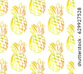 seamless pattern with... | Shutterstock .eps vector #629927528