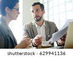 businessman explaining document ... | Shutterstock . vector #629941136