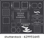 vintage design elements set... | Shutterstock .eps vector #629951645