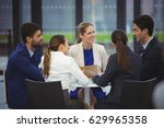 businesspeople having a... | Shutterstock . vector #629965358