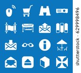 set of 16 image filled icons... | Shutterstock .eps vector #629998496