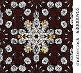 vintage pattern on brown...   Shutterstock .eps vector #630000902