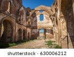ruins of an old church... | Shutterstock . vector #630006212