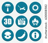set of 9 color filled icons... | Shutterstock .eps vector #630008582