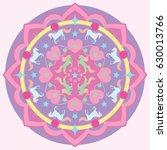 unicorn mandala vector...   Shutterstock .eps vector #630013766