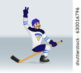 finland ice hockey team player... | Shutterstock .eps vector #630016796