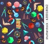 back to school seamless pattern ... | Shutterstock .eps vector #630018062