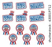 election titles and badges for...   Shutterstock .eps vector #630019712