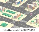 vector isometric city view  low ... | Shutterstock .eps vector #630020318