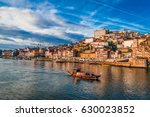 ship on the douro river. in the ... | Shutterstock . vector #630023852
