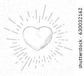 symbol of love   valentine... | Shutterstock .eps vector #630032162
