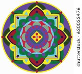 mandala vector illustration....   Shutterstock .eps vector #630033476