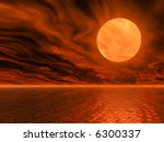 golden sunset 3d illustration | Shutterstock . vector #6300337
