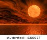 golden sunset 3d illustration | Shutterstock . vector #6300337