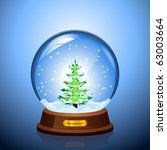 christmas snow globe with the... | Shutterstock .eps vector #63003664