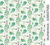 floral green pattern  nature... | Shutterstock .eps vector #630037682