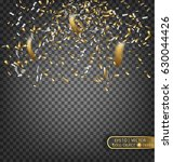 gold and silver confetti....   Shutterstock .eps vector #630044426