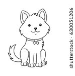 black and white cute cartoon... | Shutterstock .eps vector #630051206