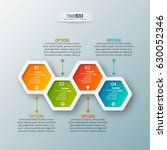 vector abstract 3d paper... | Shutterstock .eps vector #630052346